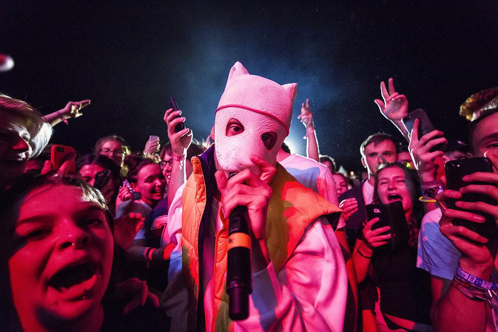 German rapper Cro at Kosmonaut Festival.